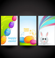 colorful easter set of card vector image vector image