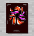 creative poster acrylic texture trendy vector image vector image