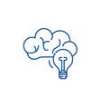 creative thinking line icon concept creative vector image vector image