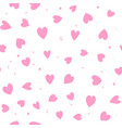 cute simple seamless pattern love heart vector image