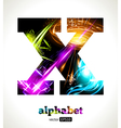 Design Abstract Letter X vector image vector image
