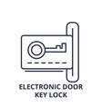 electronic dook key lock line icon concept vector image vector image