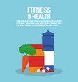 fitness and health vector image