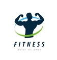 fitness logo design template health or gym vector image vector image