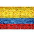 Flag of Colombia on a brick wall vector image