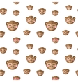 flat cartoon monkey heads with different vector image