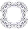 floral decorative frame black vintage ornament vector image vector image