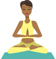 girl in yoga lotus pose vector image vector image