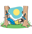 Guy in hammock vector | Price: 1 Credit (USD $1)