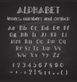 hand drawn latin alphabet vector image vector image
