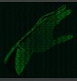 hand of binary code vector image