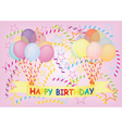 happy birthday postcard vector image