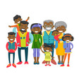 happy extended african-american family vector image