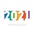 happy new year 2021 background brochure or vector image vector image