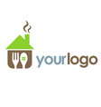 house cook food logo vector image vector image