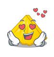 in love pineapple slice in a cartoon fridge vector image vector image