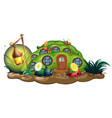 insect at fairy house vector image vector image