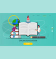 landing page with flat people characters vector image vector image