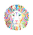 lion face logo colorful sketch for your design vector image vector image