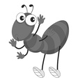 Little ant waving on white vector image vector image