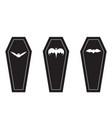 macabre coffin halloween icon set vector image vector image