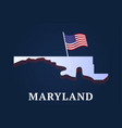 maryland state isometric map and usa national vector image vector image