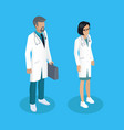 medical workers people set vector image vector image