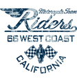 Motorcycle rider vector image vector image