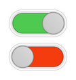 on and off slider buttons vector image vector image