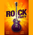 orange rock festival concert party flyer or poster vector image vector image