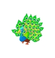 Peacock icon cartoon style vector image