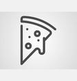 pizza icon sign symbol vector image vector image