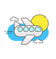 plane in sky on white background image ready vector image vector image