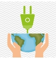planet and energy isolated icon design vector image vector image