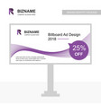 professional billboard ad design with purple vector image