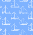 seamless wallpaper with a sailboat vector image vector image