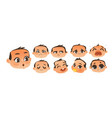 set of flat comic baby boy emoticon emoji set vector image vector image