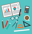 set office and business vector image vector image