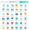 set trendy flat gradient recycling vector image vector image