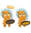 Shrovetide russian holiday cat cook fries