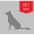 silhouette of dog on the poster for veterinary vector image