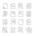 simple set of document flow management line vector image vector image