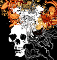 Skull with abstract design elements vector image vector image