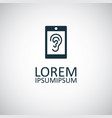 smartphone ear icon for web and ui on white vector image vector image