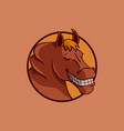 smile horse design vector image vector image