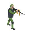 soldier isometric icon vector image
