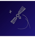 space satellite sketch vector image vector image