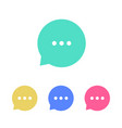 speak icons chat speech bubbles collection flat vector image vector image