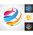 spiral globe icon vector image vector image