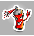 spray paint red vector image vector image